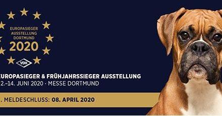 VDH-EUROPASIEGER & FRÜHJAHRSSIEGER-AUSSTELLUNG 2020